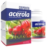 Acerola Gripovita x60 tabletek do ssania