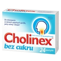 Cholinex 150mg bez cukru x24 pastylek do ssania