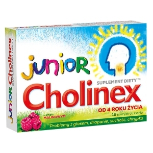 Cholinex Junior x16 pastylek do ssania