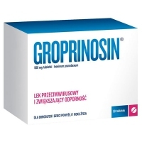 Groprinosin 500mg x50 tabletek