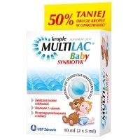 Multilac Baby Synbiotyk krople 2x5ml