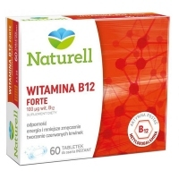 Naturell Witamina B12 Forte 100mcg x60 tabletek do ssania instant