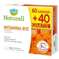 Naturell Witamina B12 x60 tabletek do żucia + 40 tabletek GRATIS