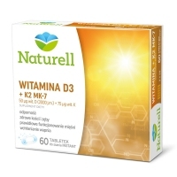 Naturell Witamina D3 2000 j.m + K2 MK-7 75mcg x60 tabletek do ssania instant