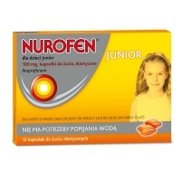 Nurofen Junior 100mg x12 kapsułek do żucia