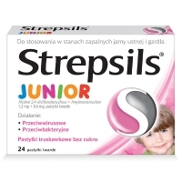 Strepsils Junior x24 pastylki do ssania