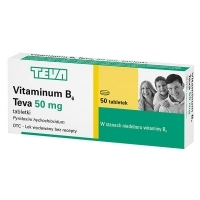 Vitaminum B6 50mg TEVA x50 tabletek